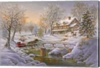 Over The Bridge To Grandmas House Fine Art Print