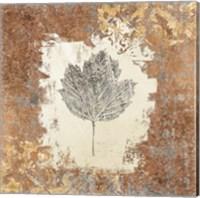 Gilded Leaf V Fine Art Print