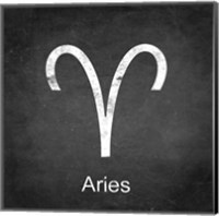 Aries - Black Fine Art Print