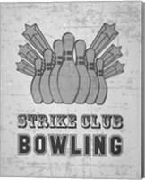Strike Club Bowling - Gray Fine Art Print