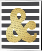 Faux Gold Ampersand Fine Art Print