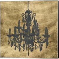 Gilt Chandelier VII Fine Art Print