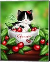 Cherry Kitten Fine Art Print