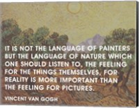 Language of Painters - Van Gogh Quote Fine Art Print