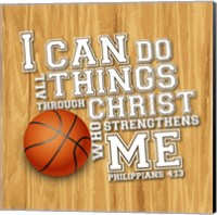 I Can Do All Sports - Basketball Fine Art Print