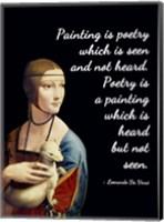Painting is Poetry - Da Vinci Quote 1 Fine Art Print