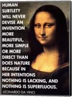 Human Subtlety -Da Vinci Quote Fine Art Print