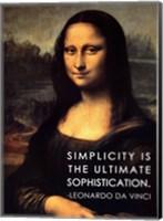 Simplicity is the Ultimate Sophistication -Leonardo Da Vinci Fine Art Print