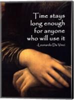 Time Stays -Da Vinci Quote Fine Art Print