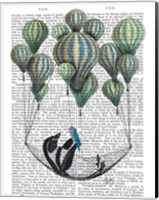 Penguin in Hammock Balloon Fine Art Print