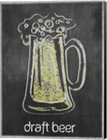 Draft Beer Chalk Fine Art Print