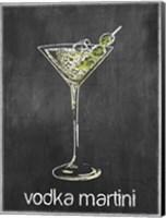 Vodka Martini Chalk Fine Art Print