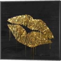 Golden Lips Fine Art Print