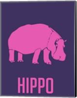 Hippo Pink Fine Art Print