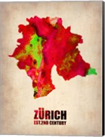 Zurich Watercolor Fine Art Print