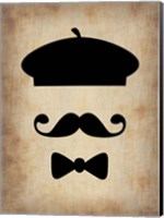 Hat Glasses and Mustache 3 Fine Art Print