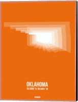 Oklahoma Radiant Map 3 Fine Art Print