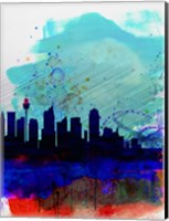 Sydney Watercolor Skyline Fine Art Print