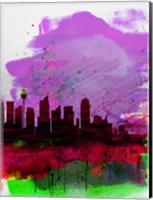 Sydney Watercolor Skyline 2 Fine Art Print