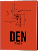 DEN Denver Airport Orange Fine Art Print