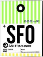 SFO San Francisco Luggage Tag 3 Fine Art Print