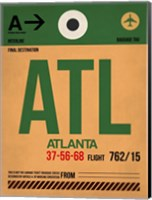 ATL Atlanta Luggage Tag 1 Fine Art Print