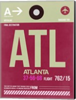 ATL Atlanta Luggage Tag 2 Fine Art Print