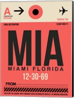 MIA Miami Luggage Tag 1 Fine Art Print