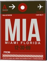 MIA Miami Luggage Tag 2 Fine Art Print