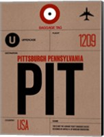 PIT Pittsburgh Luggage Tag 1 Fine Art Print
