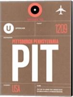 PIT Pittsburgh Luggage Tag 2 Fine Art Print