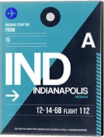 IND Indianapolis Luggage Tag 2 Fine Art Print