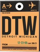 DTW Detroit  Luggage Tag 1 Fine Art Print