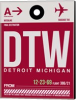 DTW Detroit  Luggage Tag 1 Fine Art Print
