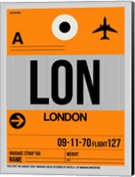LON London Luggage Tag 1 Fine Art Print