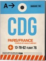 CDG Paris Luggage Tag 2 Fine Art Print