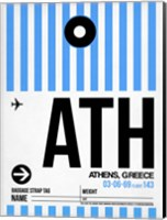 ATH Athens Luggage Tag 1 Fine Art Print