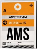 AMS Amsterdam Luggage Tag 2 Fine Art Print