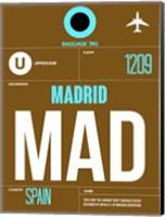 MAD Madrid Luggage Tag 1 Fine Art Print