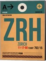 ZRH Zurich Luggage Tag 1 Fine Art Print