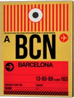 BCN Barcelona Luggage Tag 1 Fine Art Print