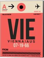 VIE Vienna Luggage Tag 1 Fine Art Print