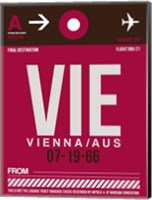 VIE Vienna Luggage Tag 2 Fine Art Print