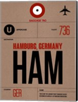 HAM Hamburg Luggage Tag 1 Fine Art Print