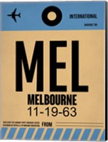 MEL Melbourne Luggage Tag 1 Fine Art Print