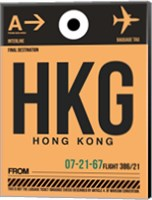 HKG Hog Kong Luggage Tag 2 Fine Art Print