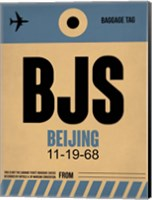BJS Beijing Luggage Tag 2 Fine Art Print