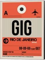 GIG Rio De Janeiro Luggage Tag 2 Fine Art Print