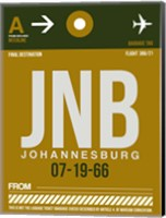 JNB Johannesburg Luggage Tag 1 Fine Art Print