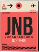 JNB Johannesburg Luggage Tag 2 Fine Art Print